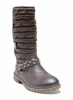 Muk Luks Gayle Cable Knit & Faux Leather Boot
