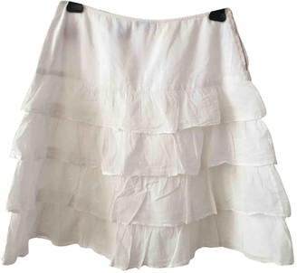 agnès b. White Cotton Skirt for Women