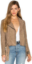 Muu Baa Muubaa Seaton Belted Biker Jacket in Nude