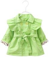 Aivtalk Baby Girls Windbreak Jacket Cotton Outerwear Wind Coat Size 8