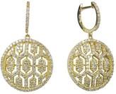 Effy Jewelry Effy D'Oro 14K Yellow Gold Diamond Maze Earrings, 1.35 TCW