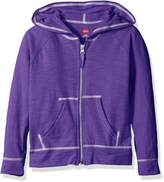 Hanes Little Girls' Slub Jersey Full Zip Jacket