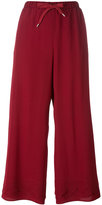 RED Valentino drawstring palazzo pants - women - Silk - 42