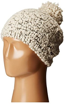 San Diego Hat Company KnH3370 Textured Beanie with Gold Sequins (Ivory) Beanies