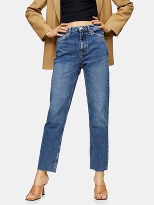 Topshop Tall Straight Leg Jeans -Blue