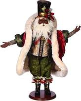 Mark Roberts Santas African American Black Santa On The Town 28 inch 51-68355