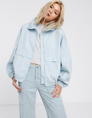 ASOS DESIGN soft denim sports jacket