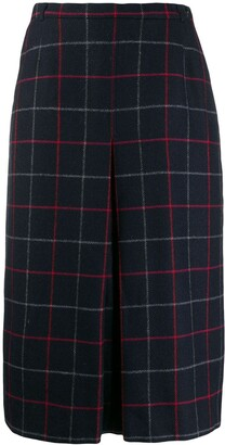 Burberry Pre-Owned 1980s checked A-line skirt