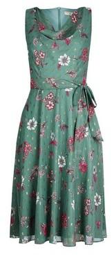 Dorothy Perkins Womens **Billie & Blossom Petite Sage Floral Print Cowl Midi Dress