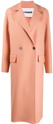 Jil Sander Cashmere Double-Breasted Peacoat