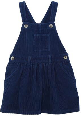 American Outfitters Cotton Corduroy Overall Dress