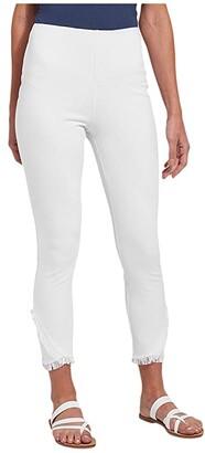 Lysse Fringe Tulip Hem Denim Pants (White) Women's Jeans