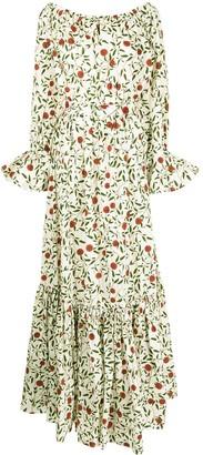 Agua Bendita All-Over Floral Print Dress