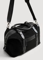 MANGO MAN Leather weekend bag