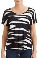 Kensie Animal Print Boxy T-Shirt