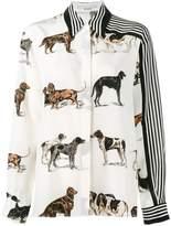 Stella McCartney dog and stripe print shirt