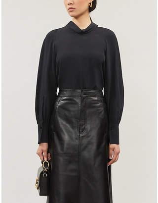 Joseph Laurrel high-neck silk-toile blouse
