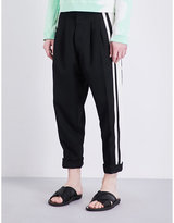 Haider Ackermann Dropped-crotch Fleecewool Trousers