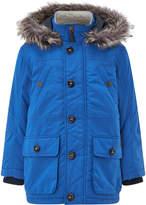 Monsoon Benny Blue Parka Coat
