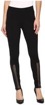 Hue Laser Cut Panels Blackout Leggings Women's Casual Pants