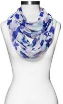 Xhilaration Women's Butterfly Print Scarf Purple