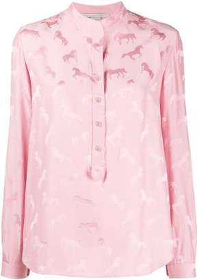 Stella McCartney Horse Pattern Blouse