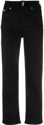 Versace Jeans Couture Straight Leg Cropped Jeans