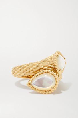 Boucheron Serpent Boheme 18-karat Gold Mother-of-pearl Ring