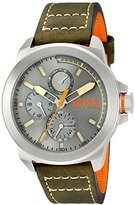 HUGO BOSS BOSS Orange Men's 1513318 New York Analog Display Japanese Quartz Green Watch