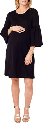 Ingrid & Isabel Maternity Ponte Bell-Sleeve Dress