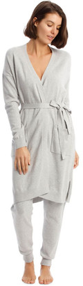 Chloé & Lola Cosy Comfort Fully-Fashioned Long-Line Cardigan in Grey Marle