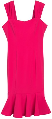 Marina Flounced Hem Dress
