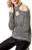 Karen Millen Cold-Shoulder High/Low Sweater