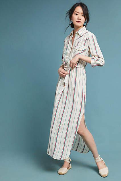 Antik Batik Striped Shirtdress