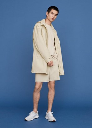 MANGO MAN - Waterproof technical fabric trench sand - S - Men