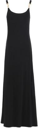Tory Burch Hook-detailed Crepe-jersey Maxi Dress
