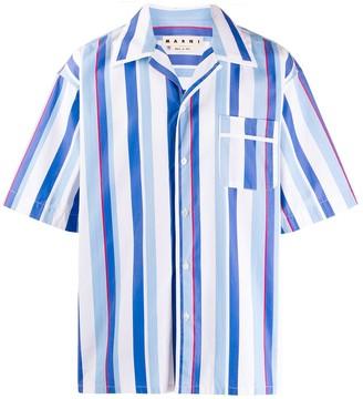 Marni Yarn-Dyed Striped Bowling Shirt