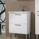 """Nameeks Iotti By Luna Fitted Ceramic 24"""" Single Bathroom Vanity Top Iotti by Color: White"""
