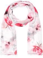 Portmans Red Fall Floral Scarf