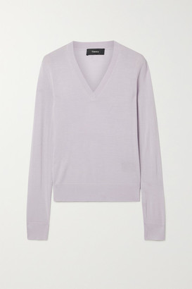 Theory Wool-blend Sweater - Lilac