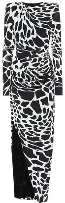 Alexandre Vauthier Printed stretch-jersey gown