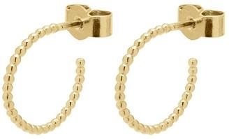 Myia Bonner 9K Yellow Gold Mini Sphere Hoop Earrings