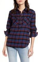 Wrangler Quarter Zip Flannel Shirt