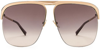 Givenchy Metal Aviator Sunglasses in Dark Grey Gradient & Gold | FWRD