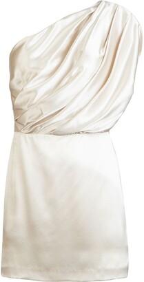 Mason by Michelle Mason Gathered-Detailing One-Shoulder Mini Dress