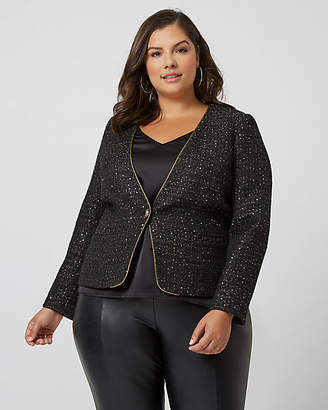 Le Château Sequin Boucle Collarless Blazer
