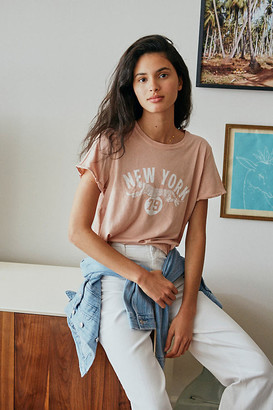 Anthropologie Back When New York Graphic Tee By Back When for in Pink Size XS