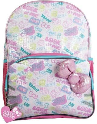 "Hello Kitty 16"" Kids' Sequin Backpack -"