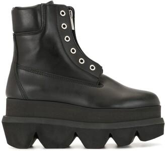 Sacai Platform Sole Ankle Boots