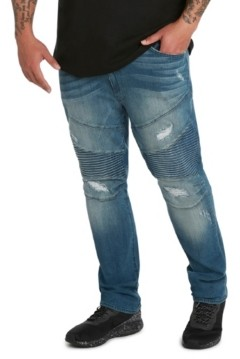 Mvp Collections By Mo Vaughn Productions Mvp Collections Men's Big & Tall Denim Biker Jean